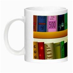 Shelf Books Library Reading Night Luminous Mugs