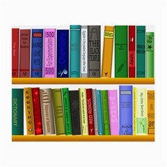 Shelf Books Library Reading Small Glasses Cloth