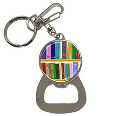 Shelf Books Library Reading Button Necklaces