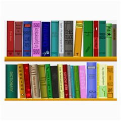 Shelf Books Library Reading Large Glasses Cloth (2 Side)