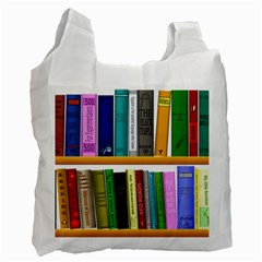 Shelf Books Library Reading Recycle Bag (two Side)