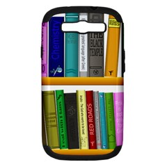 Shelf Books Library Reading Samsung Galaxy S Iii Hardshell Case (pc+silicone)