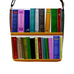 Shelf Books Library Reading Flap Messenger Bag (l)