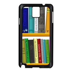 Shelf Books Library Reading Samsung Galaxy Note 3 N9005 Case (black)