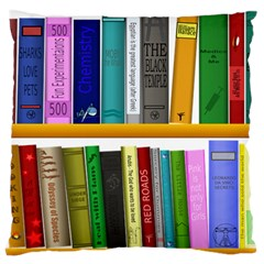Shelf Books Library Reading Large Flano Cushion Case (one Side)