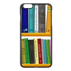 Shelf Books Library Reading Apple Iphone 6 Plus/6s Plus Black Enamel Case