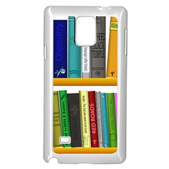 Shelf Books Library Reading Samsung Galaxy Note 4 Case (white)