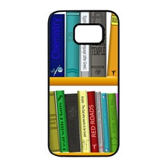 Shelf Books Library Reading Samsung Galaxy S7 Edge Black Seamless Case