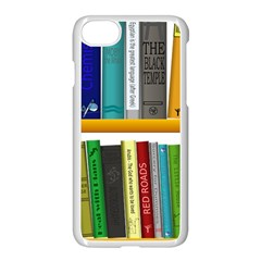 Shelf Books Library Reading Apple Iphone 7 Seamless Case (white)