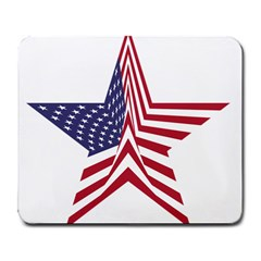 A Star With An American Flag Pattern Large Mousepads