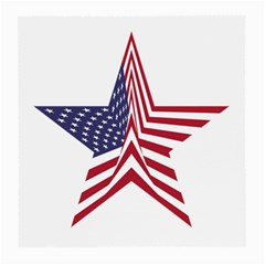 A Star With An American Flag Pattern Medium Glasses Cloth (2 Side)