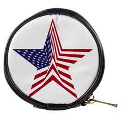 A Star With An American Flag Pattern Mini Makeup Bags