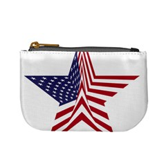 A Star With An American Flag Pattern Mini Coin Purses