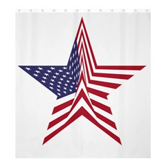 A Star With An American Flag Pattern Shower Curtain 66  X 72  (large)