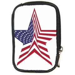 A Star With An American Flag Pattern Compact Camera Cases