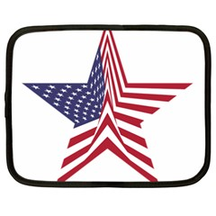 A Star With An American Flag Pattern Netbook Case (xxl)