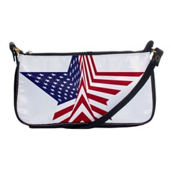 A Star With An American Flag Pattern Shoulder Clutch Bags by Nexatart