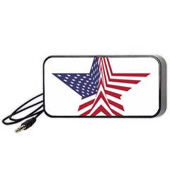 A Star With An American Flag Pattern Portable Speaker