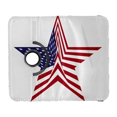 A Star With An American Flag Pattern Galaxy S3 (flip/folio)