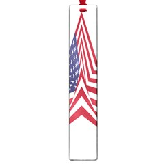 A Star With An American Flag Pattern Large Book Marks by Nexatart