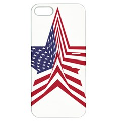 A Star With An American Flag Pattern Apple Iphone 5 Hardshell Case With Stand