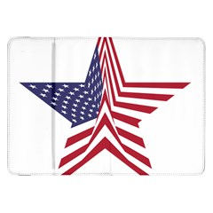 A Star With An American Flag Pattern Samsung Galaxy Tab 8 9  P7300 Flip Case