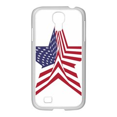 A Star With An American Flag Pattern Samsung Galaxy S4 I9500/ I9505 Case (white) by Nexatart