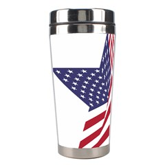 A Star With An American Flag Pattern Stainless Steel Travel Tumblers