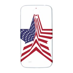 A Star With An American Flag Pattern Samsung Galaxy S4 I9500/i9505  Hardshell Back Case