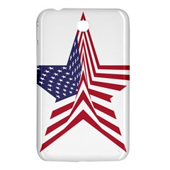 A Star With An American Flag Pattern Samsung Galaxy Tab 3 (7 ) P3200 Hardshell Case