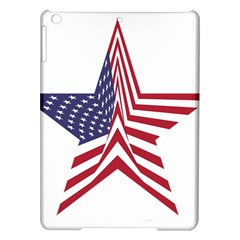 A Star With An American Flag Pattern Ipad Air Hardshell Cases