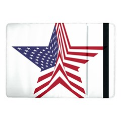 A Star With An American Flag Pattern Samsung Galaxy Tab Pro 10 1  Flip Case
