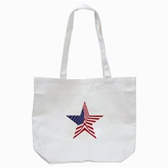 A Star With An American Flag Pattern Tote Bag (white)