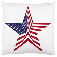 A Star With An American Flag Pattern Standard Flano Cushion Case (one Side)