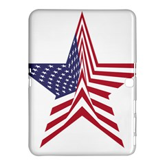 A Star With An American Flag Pattern Samsung Galaxy Tab 4 (10 1 ) Hardshell Case