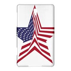 A Star With An American Flag Pattern Samsung Galaxy Tab S (8 4 ) Hardshell Case