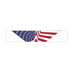 A Star With An American Flag Pattern Flano Scarf (mini)