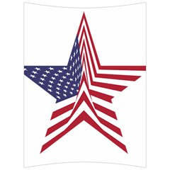 A Star With An American Flag Pattern Back Support Cushion