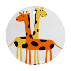 Giraffe Africa Safari Wildlife Ornament (round)