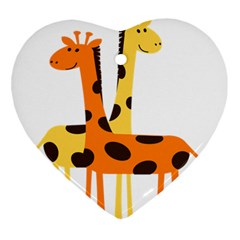 Giraffe Africa Safari Wildlife Ornament (heart)