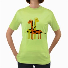 Giraffe Africa Safari Wildlife Women s Green T Shirt