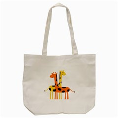 Giraffe Africa Safari Wildlife Tote Bag (cream)