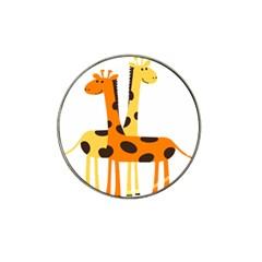 Giraffe Africa Safari Wildlife Hat Clip Ball Marker (10 Pack)