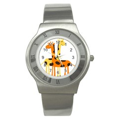 Giraffe Africa Safari Wildlife Stainless Steel Watch