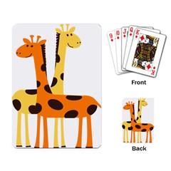 Giraffe Africa Safari Wildlife Playing Card