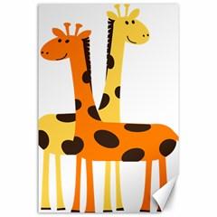 Giraffe Africa Safari Wildlife Canvas 24  X 36  by Nexatart