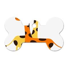 Giraffe Africa Safari Wildlife Dog Tag Bone (one Side)