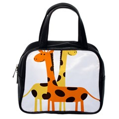 Giraffe Africa Safari Wildlife Classic Handbags (one Side)