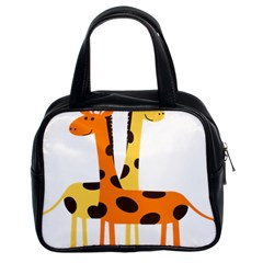 Giraffe Africa Safari Wildlife Classic Handbags (2 Sides)