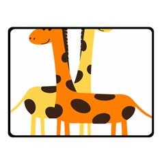Giraffe Africa Safari Wildlife Fleece Blanket (small)